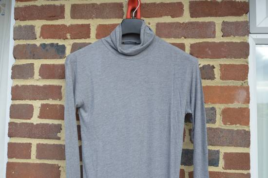 Balmain Grey Ribbed Knit Roll Neck T-shirt Size US M / EU 48-50 / 2 - 1