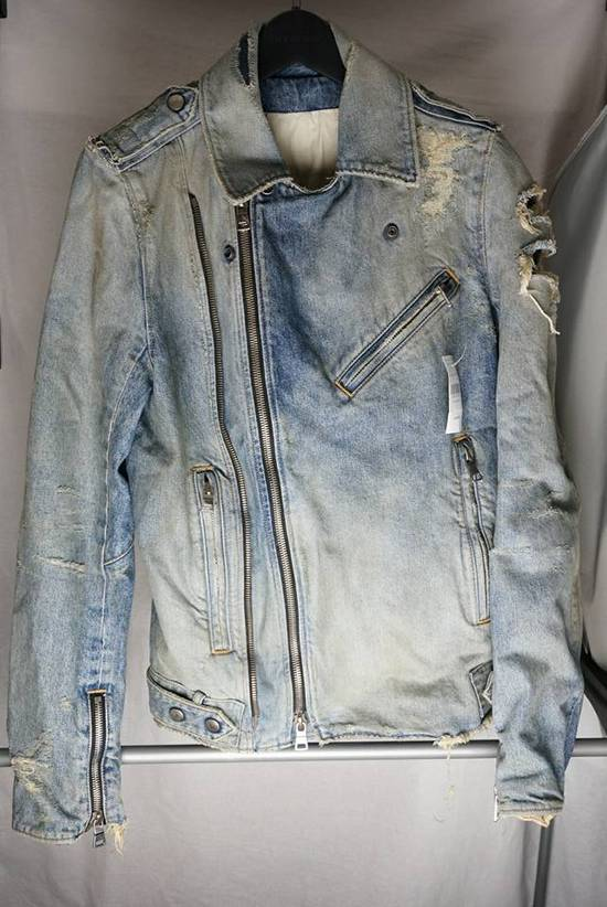 Balmain Denim Moto Jacket Size US S / EU 44-46 / 1