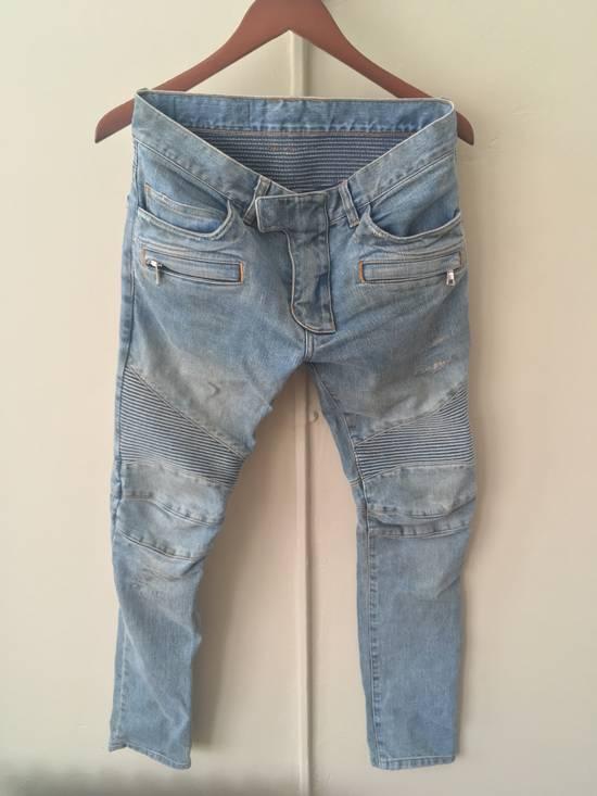 Balmain Balmain Bikers Sand Wash Jeans Size US 28 / EU 44