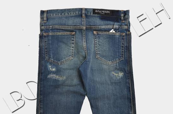 Balmain Distressed Slim Fit Skinny Blue Jeans Size US 31 - 3