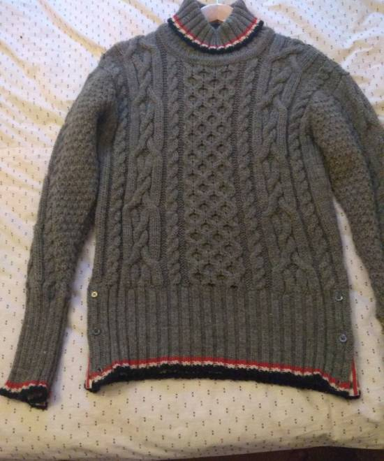 Thom Browne Thom Browne Grey Aran Roll Neck Knit size 3 Size US M / EU 48-50 / 2