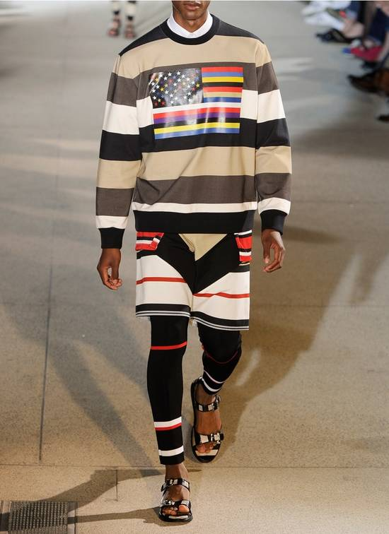 Givenchy $795 Givenchy American Flag Stripe Rottweiler Oversized Sweater size XXS (L) Size US L / EU 52-54 / 3 - 3