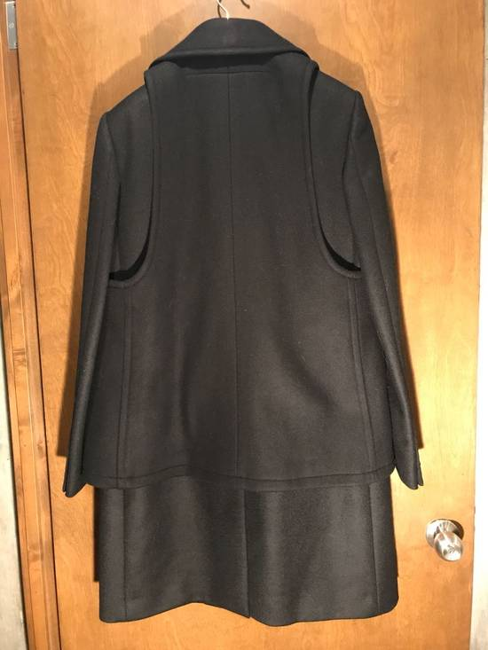 Givenchy FW12 Two Piece Black Wool Peacoat sz 48 double layer coat Riccardo Tisci Size US M / EU 48-50 / 2 - 5