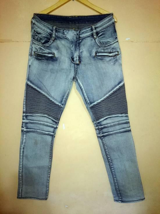 Balmain Balmain Biker Jeans Not Prada Burberry Hermes Gucci Rick Owens Issey miyake commes des Garcons a.p.c acne momotaro Size US 32 / EU 48