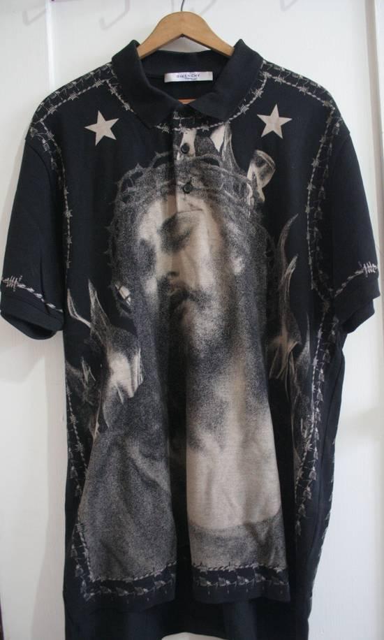 Givenchy Givenchy Black Piqué Jesus Polo Size US XL / EU 56 / 4