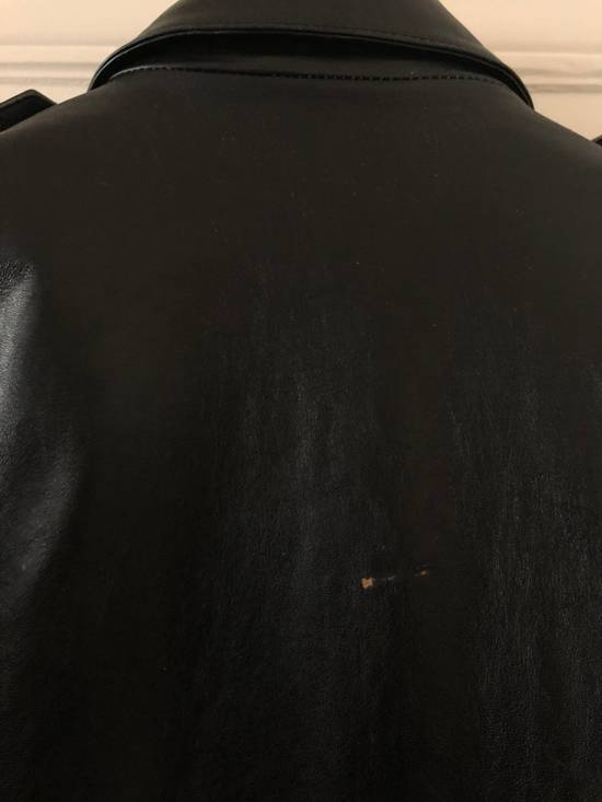Balmain Black Horse Leather Double Rider Jacket Size US L / EU 52-54 / 3 - 5