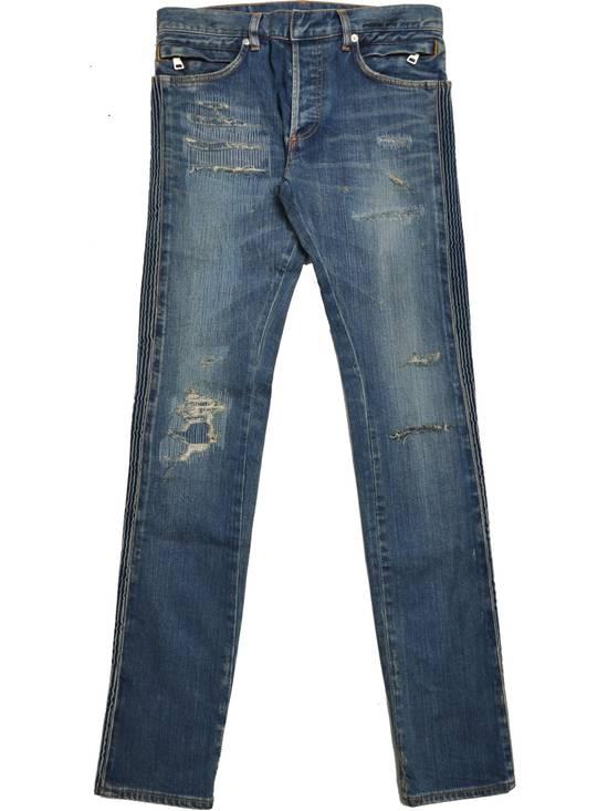 Balmain Distressed Slim Fit Skinny Blue Jeans Size US 31