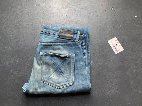 Original Fake OriginalFake KAWS 2012 Damaged Denim Pants Size US 33 - 4