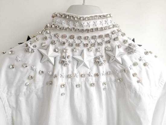 Givenchy GIVENCHY 2012 F/W STAR STUDS & CRYSTAL BEADS WHITE SHIRT Size US M / EU 48-50 / 2 - 7