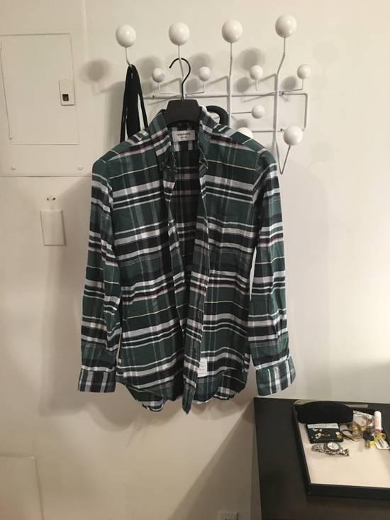 Thom Browne Plaid Oxford Cloth Button-Up Shirt Size US L / EU 52-54 / 3 - 1