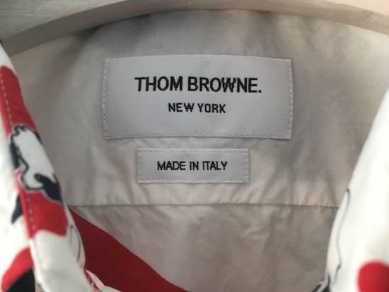 Thom Browne Floral Print Diagonal Stripe Poplin Cotton Shirt Size US XL / EU 56 / 4 - 2