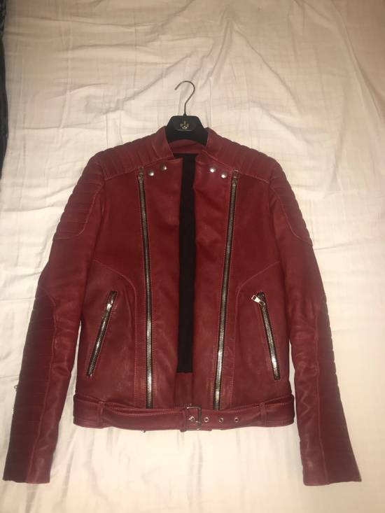 Balmain Leather Biker Jacket Size US M / EU 48-50 / 2