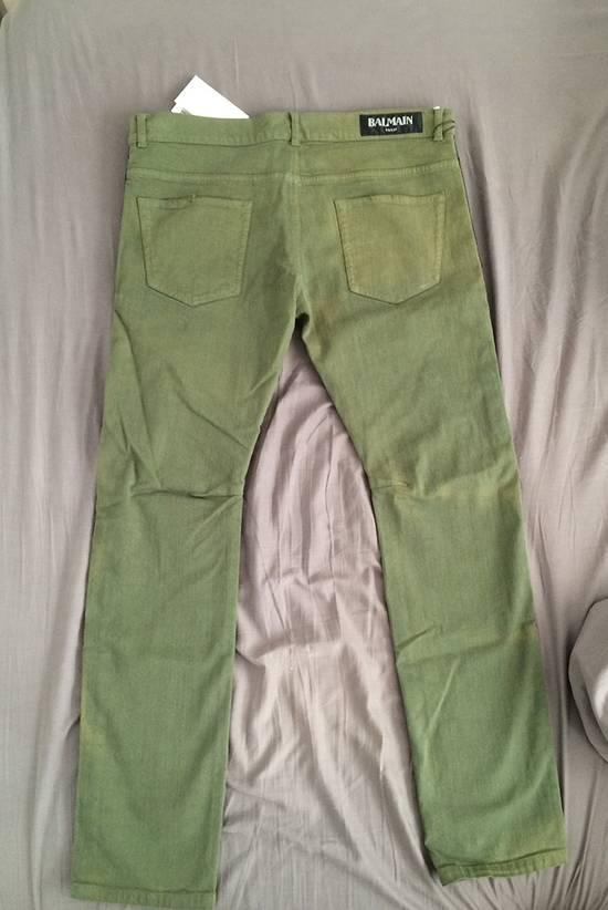 Balmain Khaki Jeans With Trim Piping Size US 32 / EU 48 - 2