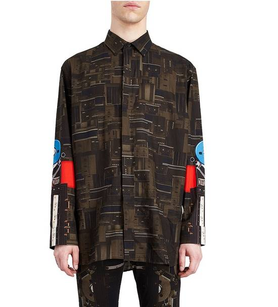 Givenchy Givenchy Dark Circuit 17 Deck Tape Rottweiler Shark Oversized Shirt size 40 (L) Size US L / EU 52-54 / 3 - 1