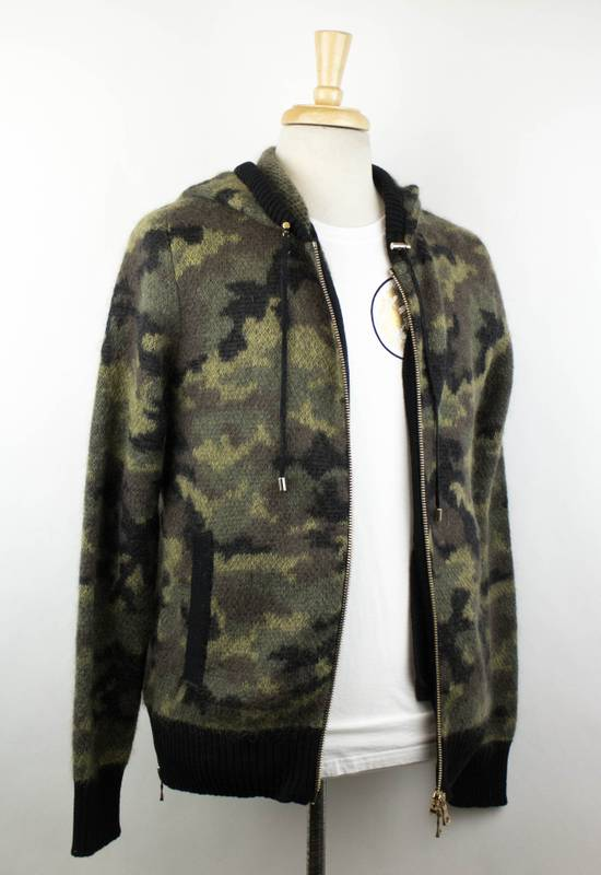 Balmain Camouflage Wool Blend Zip Up Hoodie Size S Size US S / EU 44-46 / 1 - 2