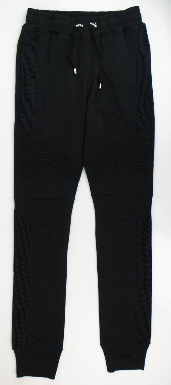 Balmain Men's Black Cotton Blend Leggings Biker Pants Size Small Size US 32 / EU 48 - 1