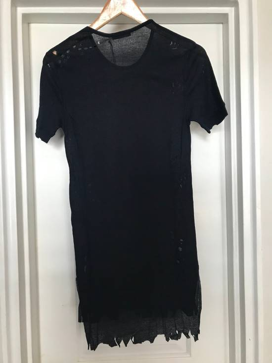 Balmain Distressed Ribbed Crew neck T Shirt Size US M / EU 48-50 / 2 - 6