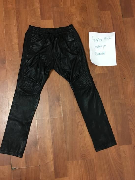 Balmain Balmain leather joggers Size US 30 / EU 46