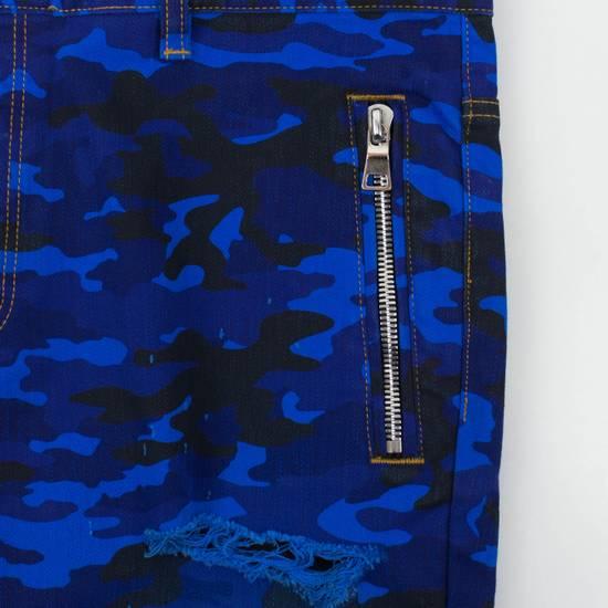 Balmain Blue Camouflage Denim Distressed Jeans Pants Size US 30 / EU 46 - 3