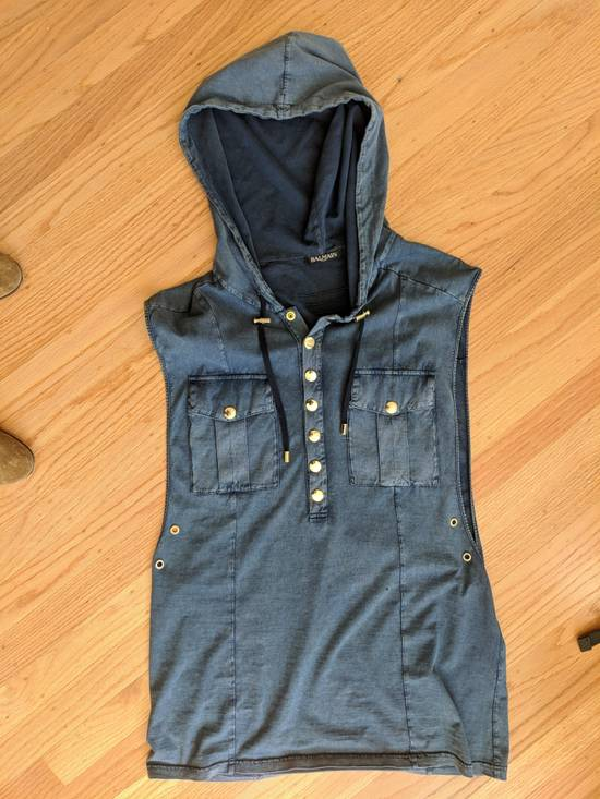 Balmain Denim Hooded Vest Size US M / EU 48-50 / 2