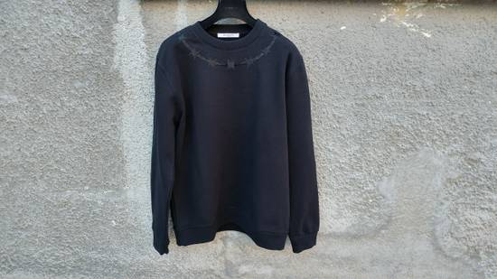 Givenchy £940 Givenchy Black Barb Wire Embroidered Rottweiler Shark Sweater size XL Size US XL / EU 56 / 4