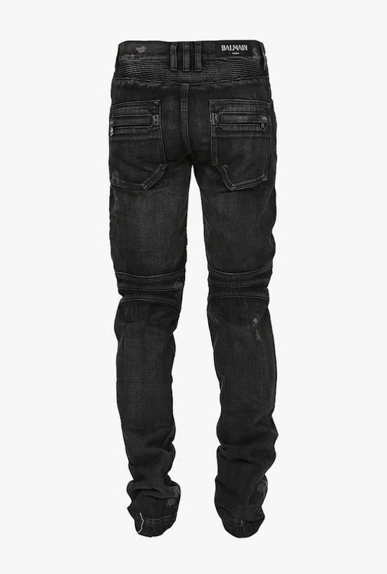 Balmain AW14 biker denim jeans Size US 30 / EU 46 - 1