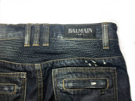 Balmain BALMAIN DISTRESSED BIKER JEANS. REFERENCE MODEL T511-B317 Size US 30 / EU 46 - 3