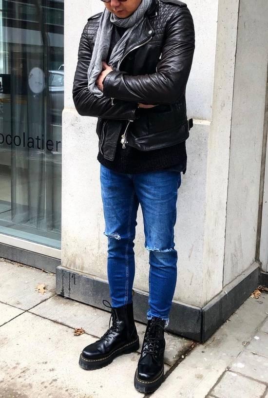 Balmain RARE! Lambskin Leather Biker Jacket Size US L / EU 52-54 / 3 - 10