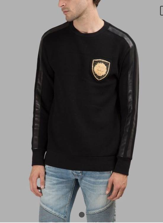 Balmain BALMAIN Embroidered Crest Badge Cotton-Jersey Sweatshirt Size US S / EU 44-46 / 1 - 1