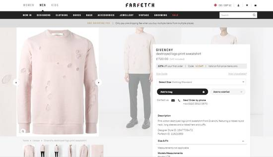 Givenchy Pink Destroyed Logo Sweater Size US S / EU 44-46 / 1 - 10