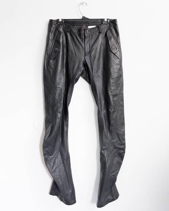 Julius FW08 Presentation Sample Leather Twist Seam Pants Size US 32 / EU 48