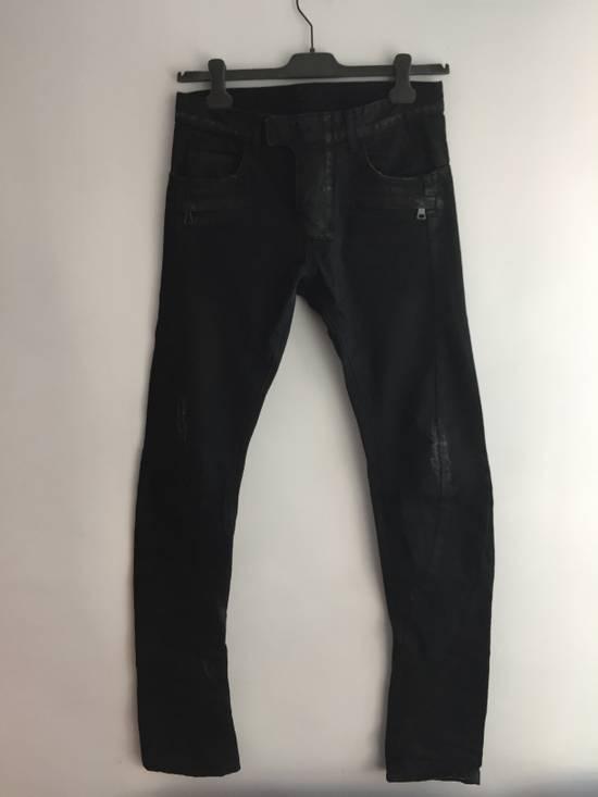 Balmain Distress Waxed Jeans Size US 28 / EU 44 - 2