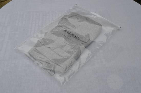 Balmain Light Grey Ribbed Roll Neck T-shirt Size US M / EU 48-50 / 2 - 7