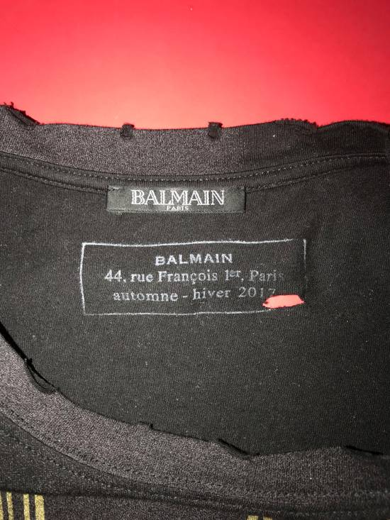 Balmain balmain oversized,distressed-t shirt Size US XL / EU 56 / 4 - 4