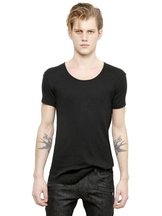 Balmain Black Ribbed Knit T-shirt Size US XS / EU 42 / 0 - 1