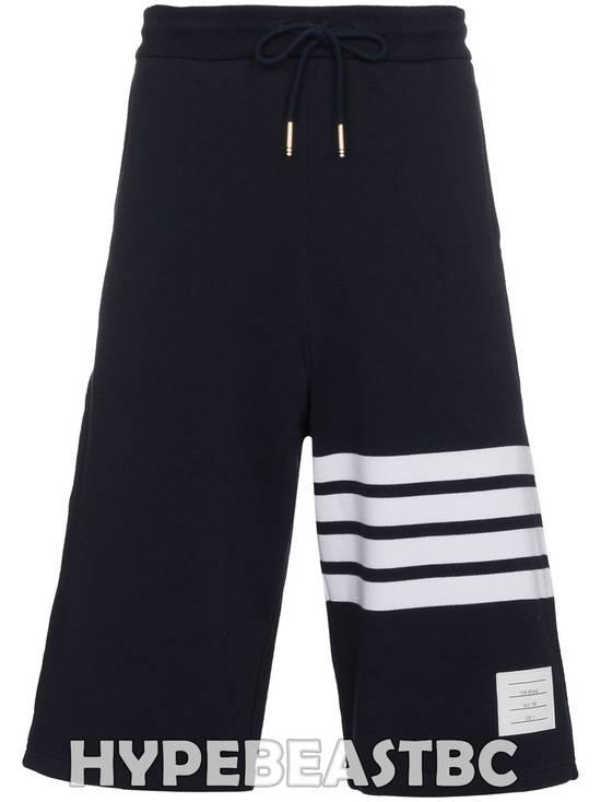 Thom Browne THOM BROWNE Classic Sweat Shorts Engineered 4-Bar Stripe, Size 2, Navy, NWT Size US 32 / EU 48 - 2