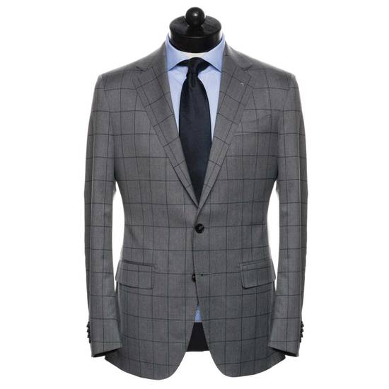 Spier And Mackay Grey Windowpane VBC Slim Suit Size 42R