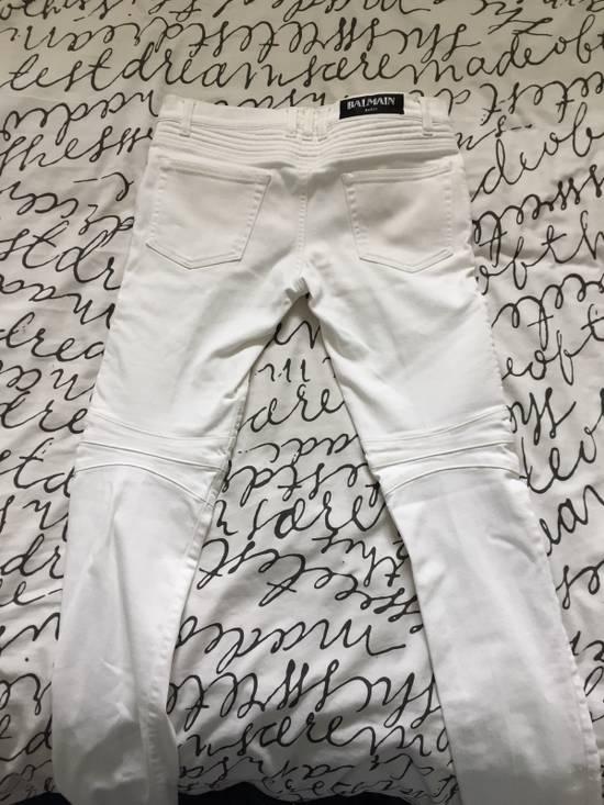 Balmain Balmain White Biker Jeans Size US 29 - 1
