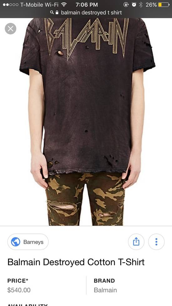 Balmain Distressed T Shirt Heat Size US L / EU 52-54 / 3 - 4