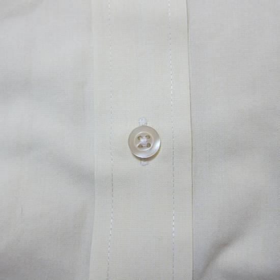 Balmain Balmain Paris 16 1/2/42 80% Cotton 20% Polyester Made in Hong Kong Light Yellow Long Sleeve Front Pocket Button Up Shirt Size US L / EU 52-54 / 3 - 2