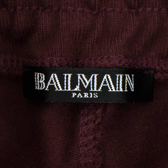 Balmain Burgundy Cotton 'Calecon Nervures' Sweatpants Pants Size XS Size US 30 / EU 46 - 5