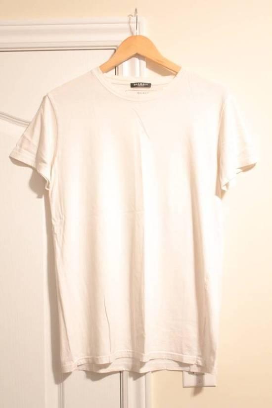 Balmain Rare Decarnin 2010 Twisted Seam White T Shirt Made In France Size US M / EU 48-50 / 2 - 1