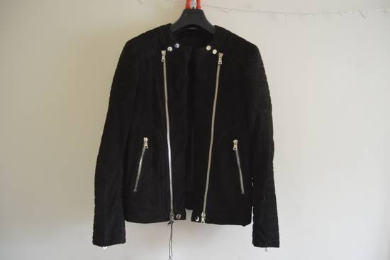 Balmain 1 of 1 Black Suede Biker Size US M / EU 48-50 / 2