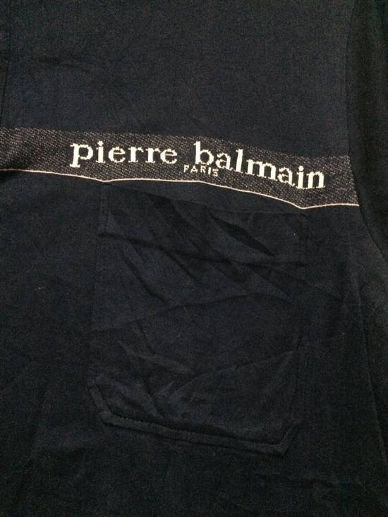 Balmain Rare Vintage Pierre Balmain S/Sleeve Pocket Shirt Italian Top Designer MEDIUM Made in Japan. Size US M / EU 48-50 / 2 - 1