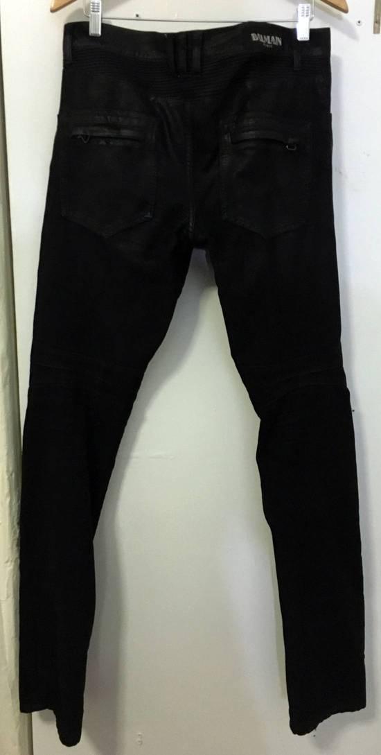 Balmain Waxed biker jeans black Size US 32 / EU 48 - 4