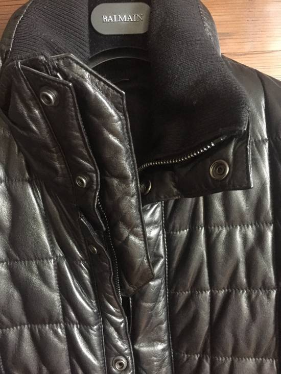 Balmain Balmain Homme Rare Leather Puffer List $6590 Size US S / EU 44-46 / 1 - 10