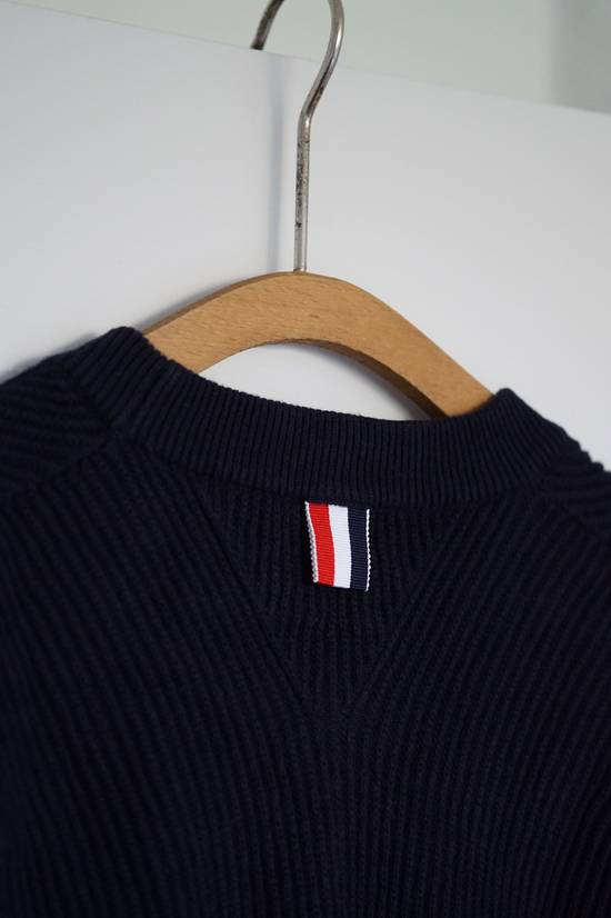 Thom Browne Blue Striped Ribbed-Knit Cotton Sweater Size US M / EU 48-50 / 2 - 8