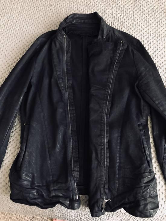 Julius MEN'S BLACK WAXED DENIM JACKET Size US XXL / EU 58 / 5 - 10