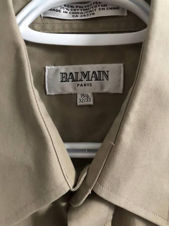 Balmain khaki button up Size US M / EU 48-50 / 2 - 1