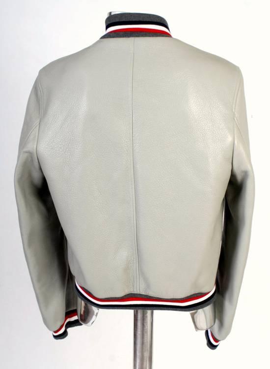 Thom Browne Thom Brown Deerskin Leather Varsity Jacket Grey Size 3 EU50 Medium RRP $3325 Size US M / EU 48-50 / 2 - 13